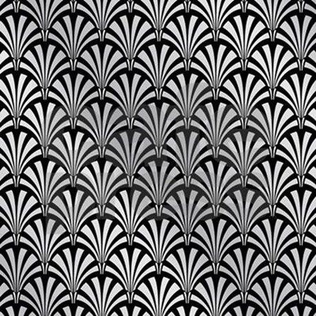 Elegant Black And Silver Art Deco Shower Curtain By Chevron Cafepress In 2021 Art Deco Tiles Art Deco Wallpaper Silver Art