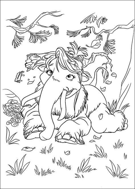 malvorlagen ice age 9  färgläggningssidor teckningar och