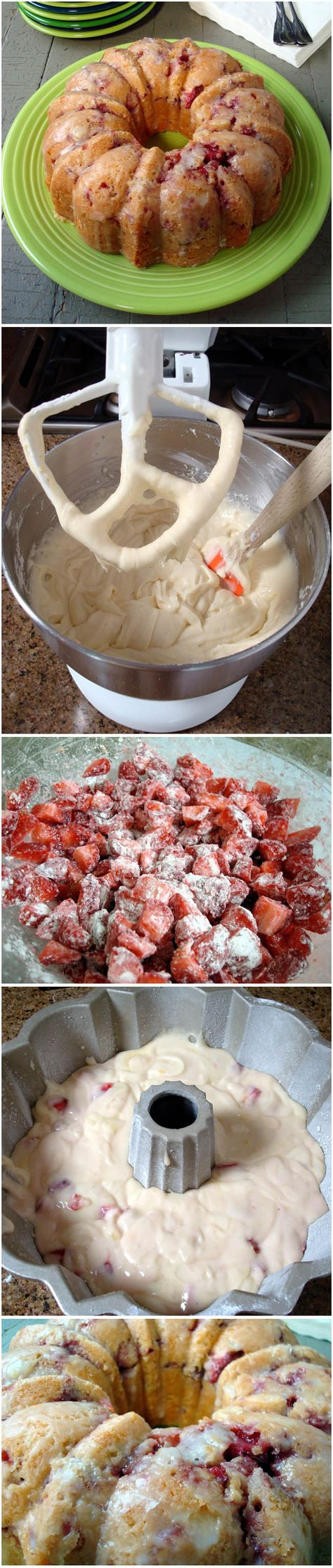Fresh Strawberry Yogurt Cake I must make this!