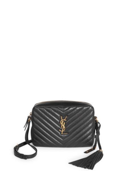 7d7988f218d Saint Laurent - Small Leather Matelasse Monogram Lou Camera Bag ...