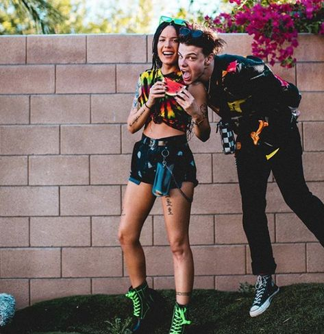 Halsey wearing House of Holland at Coachella 2019