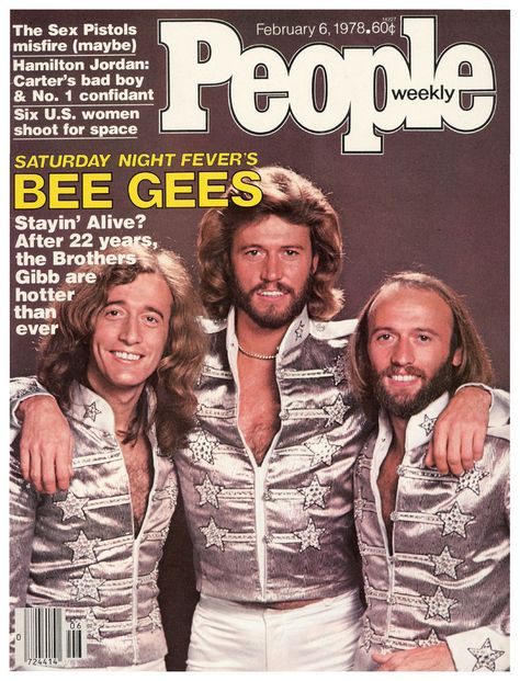 Vintage People Magazine The Bee Gee's February 6 1978  Date Published: February 6, 1978 Cover Feature Photo: The Bee Gee's  COVER STORY Stayin' Alive The Bee Gees, Pop's Golden Oldies, Find There Really Is a Fountain of Youth in Florida.