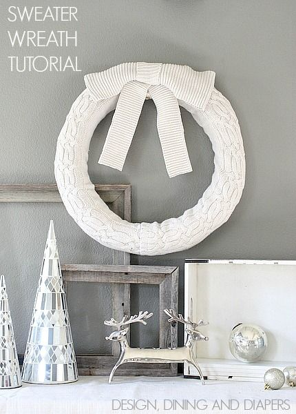 Learn How To Recycle Your Old Sweaters Into A Cozy Wreath. Love this! via @Taryn {Design, Dining + Diapers}
