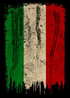 Italy Grunge Vintage Flag Vintage Posters Poster Print Metal Posters Bandiera Dell Italia Bandiera Dipinti