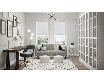 Open Office Zoom Background 4 Virtual Photos For Video Call Professional Background Online School Stock Photo Digital Download In 2021 Interior Design Interior Design Virtual Office Interior Design