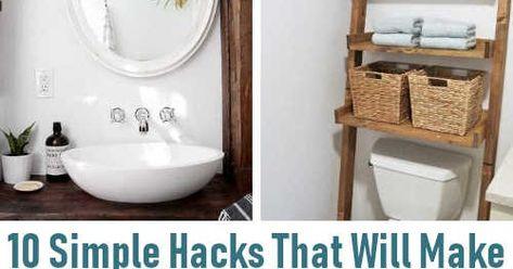 10 DIY Projects That Will Make Your Bathroom Look Amazing. #DIYHSH #Bathroom #DIY #HomeDecor