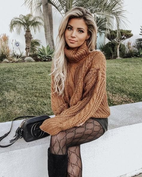 Spring style, Spring Fashion    transitional spring style; black boots and chunky sweaters