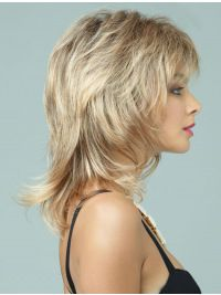 Synthetic Shoulder Length Layered Refined Wigs, Lace Wigs Usa