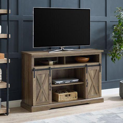 Walker Edison Furniture Co W52hbsbdro Rustic Oak Tv Stand In Dark