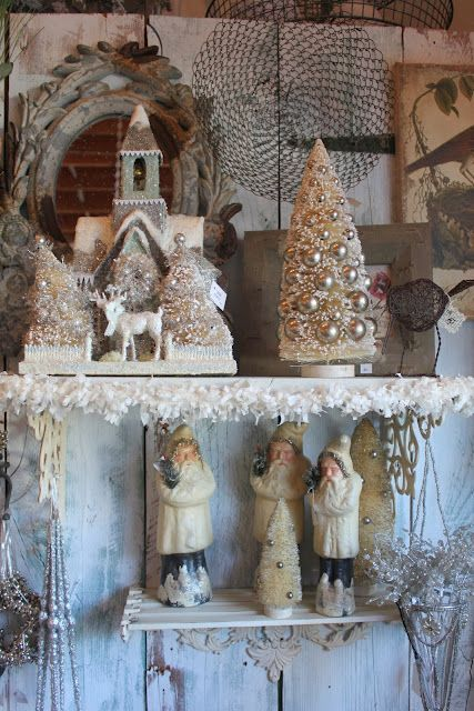 Vintage Christmas. old gold. dull silver. beautiful!