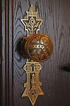 belle décorés pour historique porte Poignée PINTO-DE antique fer fixes