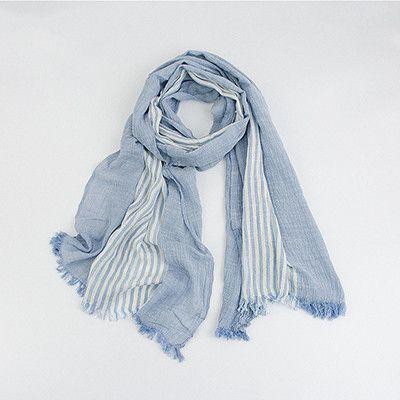 Wholesale Winter Scarf Men Warm Soft Tassels Gray Plaid Woven Wrinkled Cotton Men Scarves
