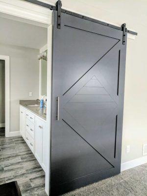 Painted Modern Arrow Barn Door In 2020 Barn Doors Modern