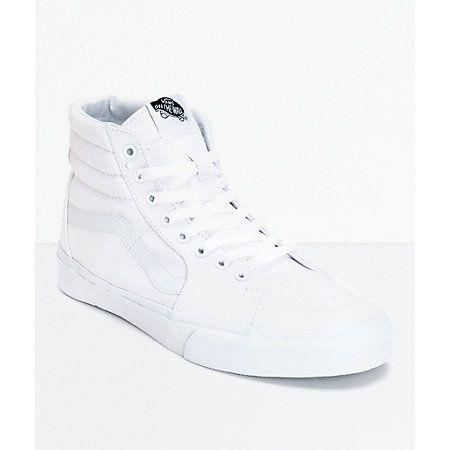 Vans Sk8-Hi True White Canvas Skate Shoes | Dressing et Blanc