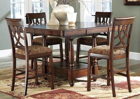 Best Buy Furniture And Mattress The Best For Less Leahlyn Counter Height E Dining Room Furniture Sets Round Dining Room Table Counter Height Dining Room Tables