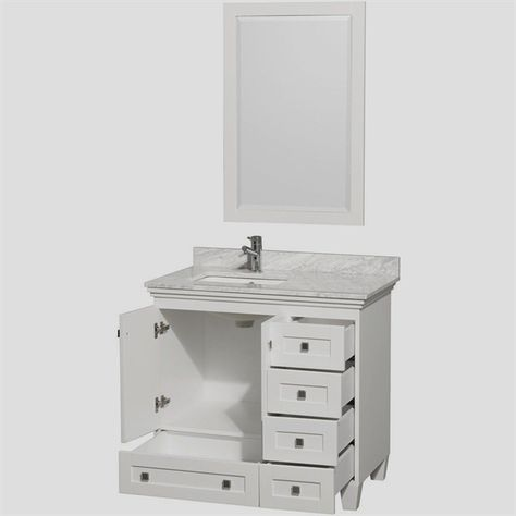 18 Deep X 30 Wide Bathroom Vanity Vanities Regarding Sizing 1000 Whitebathroomvanity