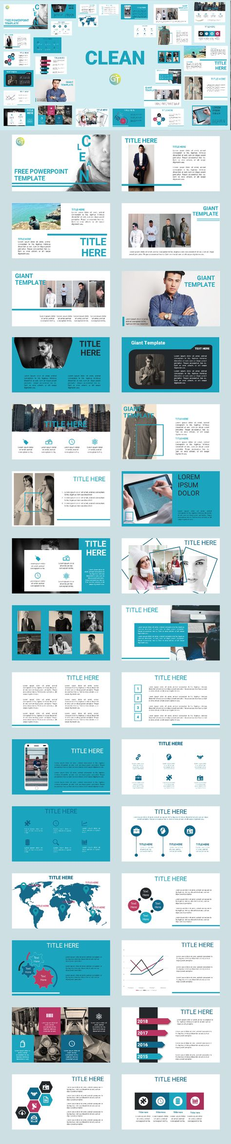 CLEAN POWERPOINT TEMPLATES 2019