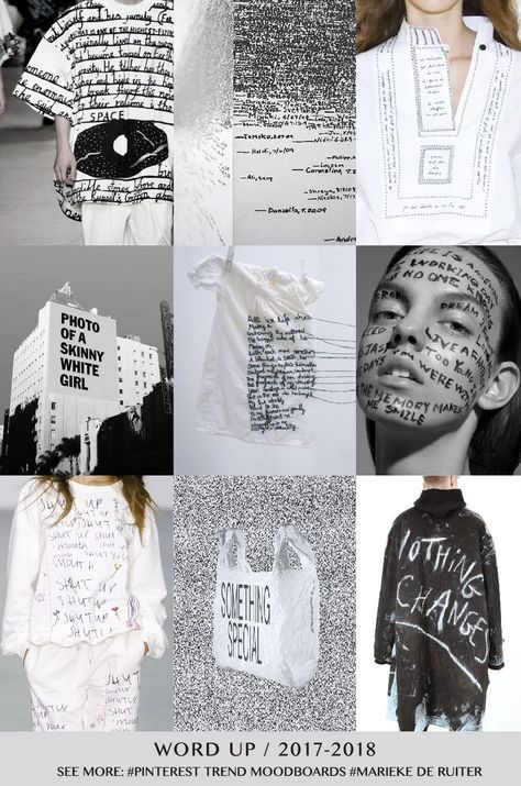 nice WORD UP- TREND 2017/2018 - Marieke de Ruiter... by http://www.danafashiontrends.us/fashion-mood-boards/word-up-trend-20172018-marieke-de-ruiter/