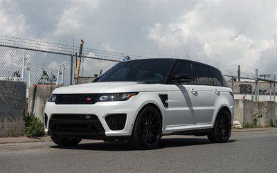 Hamta Bilder Range Rover Sport Land Rover Tuning Vit Lyx Suv Brittiska Bilar Besthqwallpapers Com Range Rover Range Rover Sport Suv