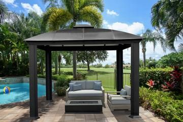 Even A Small Backyard Can Become An Oasis Cambridge 12x12 Hard Top Gazebo Aluminum Gazebo Gazebo Patio Gazebo