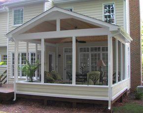 Screened Porch Patio Design TrueSon Exteriors Patio