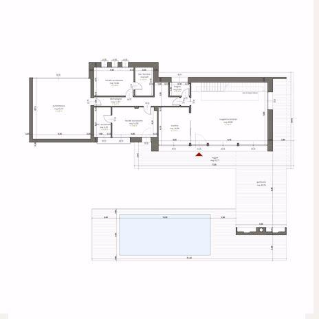 Villa Eurosia Pianta Quotata Piano Rialzato Villa Progetto