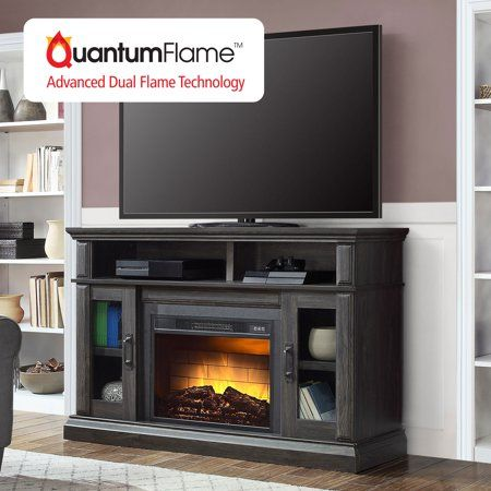 Whalen Layton Media Fireplace For 65 Inch Tvs Up To 135lbs Weathered Ash Finish Gray Media Fireplace Fireplace Tv Stand Fireplace Tv