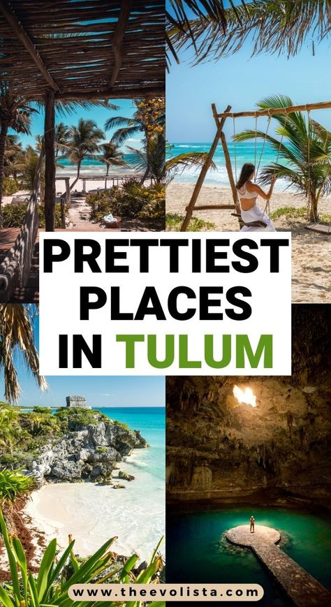 Prettiest Places in Tulum Travel Guide Mexico Vacation, Mexico Travel, Florida Travel, Las Vegas Hotels, Puerto Vallarta, Sedona Arizona, Europe Destinations, Cozumel, Cabo San Lucas