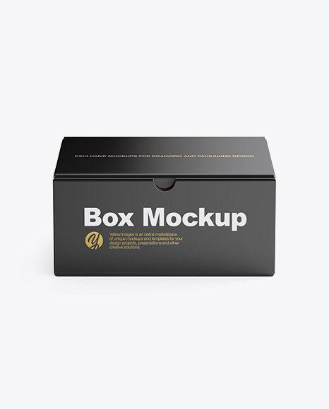 Download PSD Free Mockups Box Mockup - Front View (High-Angle Shot