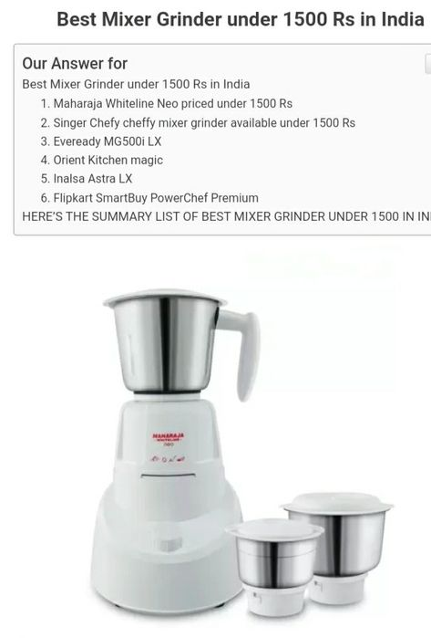 Mixer Grinders to Buy in India 2020