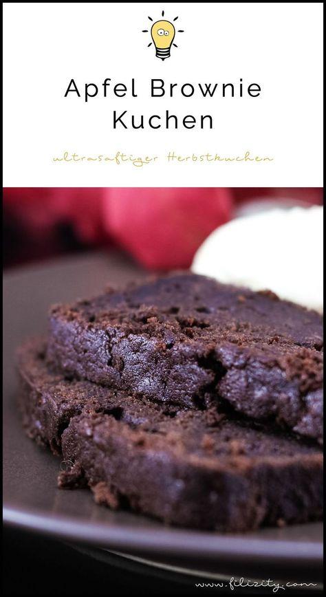 Apfel Brownie Kuchen Extra Saftig Und Schokoladig Herbst Rezepte