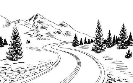 123rf Millions Of Creative Stock Photos Vectors Videos And Music Files For Your Inspiration And Projec Landscape Sketch Landscape Drawings Mountain Drawing