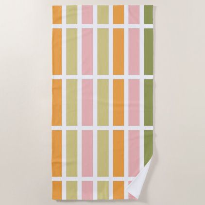 Orange Pink Green Tan Hues Beach Towel Zazzle Com In 2020