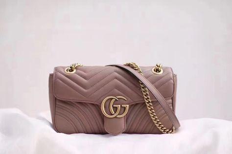 70987bd8a7fd Authentic Quality 1:1 Mirror Replica Gucci GG Marmont Matelassé Shoulder  Bag Small Nude | I love purses/handbags | Bags, Purses, handbags, Shoulder  Bag