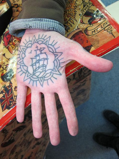 Palm Tattoo on Joe by Tony Hundahl by HeadOvMetal, via Flickr