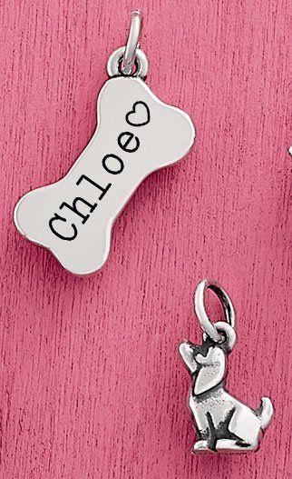 3 DIMENSIONAL Dog Bone Charm
