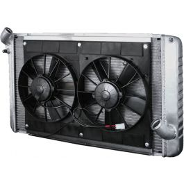 Dewitts Direct Fit Aluminum Radiator With Dual Spal Fans Sp460