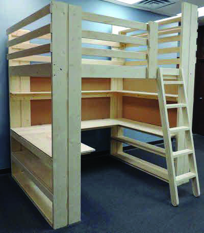 Outstanding Loft Bed With Desk Height Exclusive On Home Decor Gallery Diy Loft Bed Loft Bed Plans Kids Loft Beds
