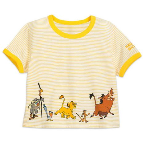 90724de9d6c5 Feel no worries as you wear this soft comfy tee featuring Simba, Timon,  Pumbaa, Zazu, and Rafiki from The Lion King.