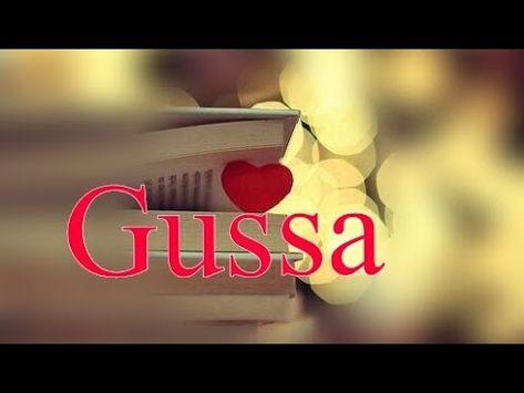 """"""" Gussa """" True heart touching status video    Whatsapp Status Video    Romantic lines - YouTube"""