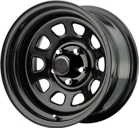 Painting Lug Nuts >> Pro Comp Steel Wheels Part 51-5165 - Series 51, 15x10 with 5 on 4.5 Bolt Pattern - Gloss black ...