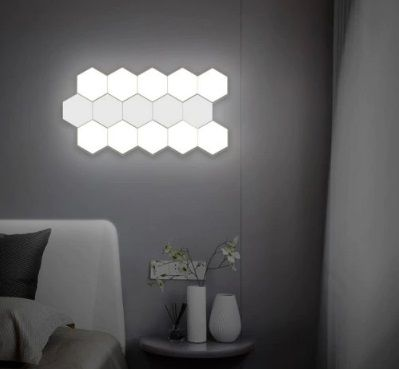 Stitching Hand Touch Bright Modular Hexagonal Wall Light Wall Lights Novelty Lights Home Decor