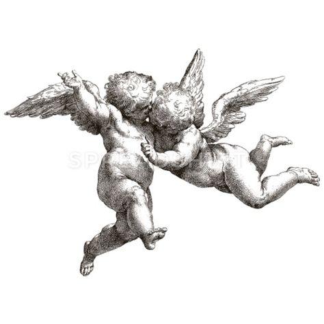 Tattoo Sketches, Tattoo Drawings, Body Art Tattoos, Art Sketches, Art Drawings, Twin Tattoos, Sleeve Tattoos, Baby Angel Tattoo, Cupid Tattoo
