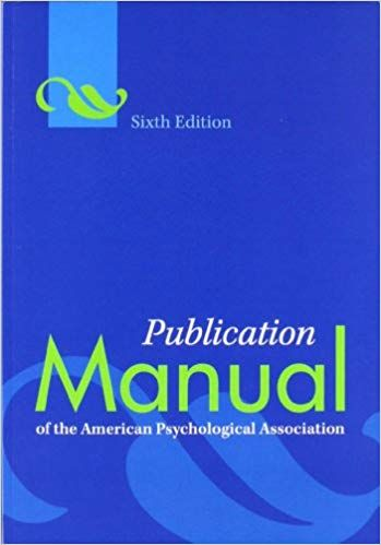 The Publication Manual Is The Style Manual Of Choice For Writers Editors Students And Educators American Psychological Association Psychology Apa Manual