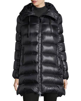 924286efc Moncler Suyen Hooded Zip Coat in 2019 | Products | Moncler, Coat ...