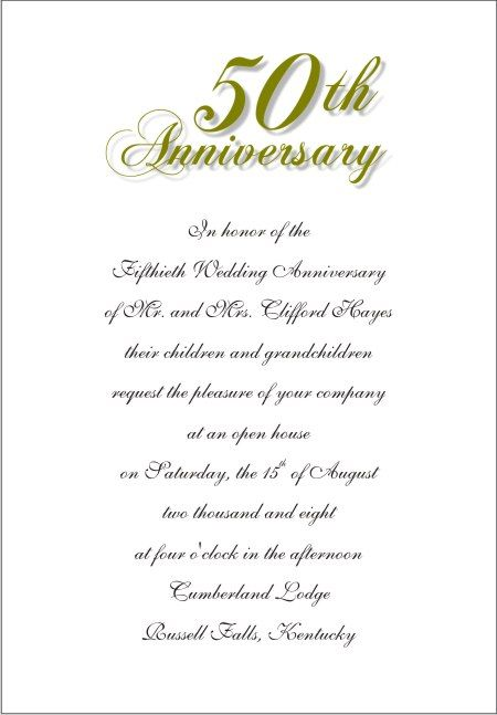 Wording for 50th wedding anniversary invitations the wedding wording for 50th wedding anniversary invitations the wedding specialists anniversary pinterest 50th wedding anniversary invitations stopboris Gallery