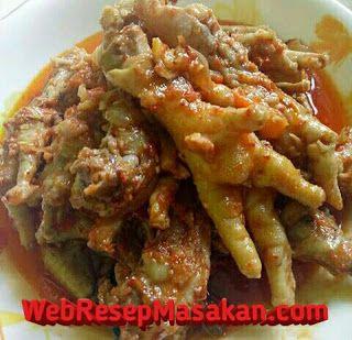 Ceker Balado Resep Resep Masakan