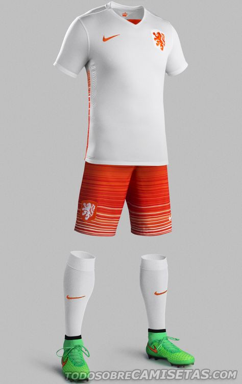Camisetas Away Oficial Kit 2015 Nike Todo Sobre Netherlands 7pp60qt