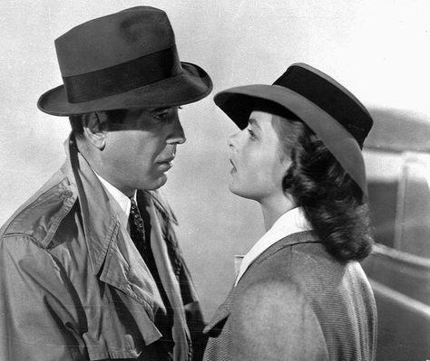 "Humphrey Bogart and Swedish-born actress Ingrid Bergman in a scene from the 1943 classic film ""Casablanca."""