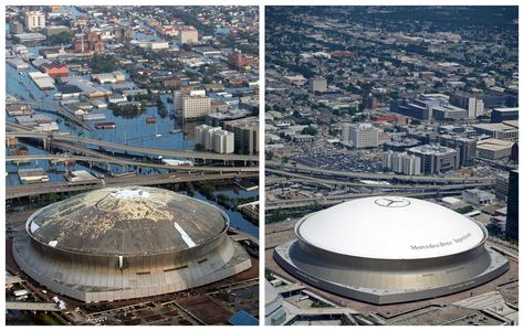 Then And Now New Orleans 10 Years After Hurricane Katrina In 2020 New Orleans New Orleans History Hurricane Katrina